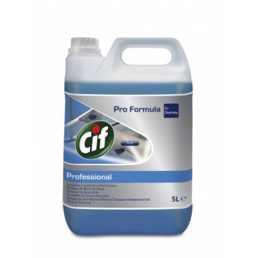 Stiklų ir vandeniui atsparių paviršių valymo priemonė Cif Professional,5l