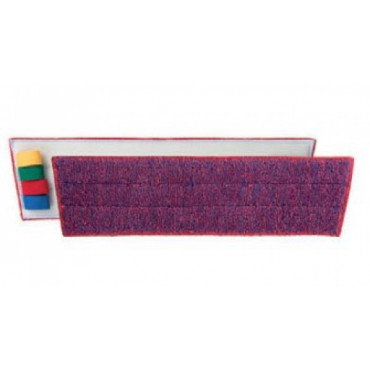 Šluostė grindims Ultrasafe Velcro, mikropluošto, mėlyna-raudona, 40x12cm