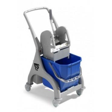 Vieno kibiro vežimėlis su nugrežėju Trolley nick grey LT.25