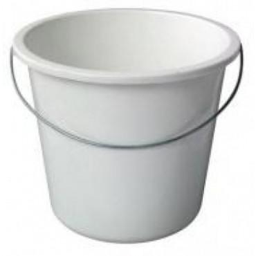 Plastikinis kibiras, baltas, 10 l