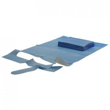 Kolibri vienkartiniai apsauginiai seilinukai, mėlyni, 37x66 cm 50 vnt