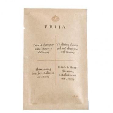 Šampūnas kūnui ir plaukams maišelyje Prija, 10ml