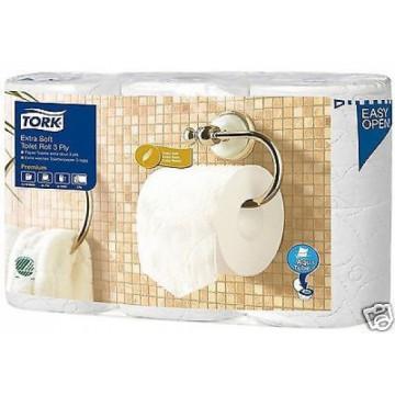 Tualetinis popierius rulonėliais Tork Premium Extra Soft, T4, 3sl.