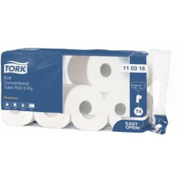 Tualetinis popierius rulonėliais Tork Premium Extra Soft  T4, 3sl.