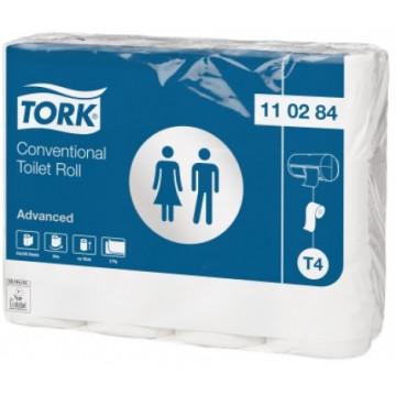 Tualetinis popierius rulonėliais Tork Advanced T4, 2sl.