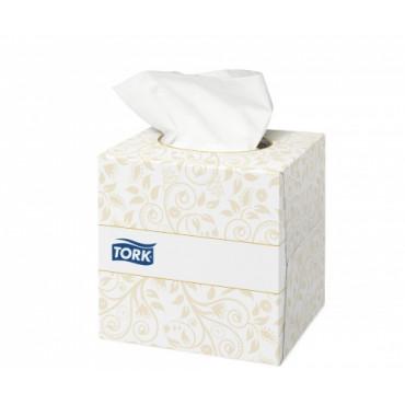 Veido servetėlės Tork Premium F1, 2sl. (kubas)