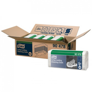 Neaustinės medž. šluostės servetėlėmis jautriems paviršiams Tork Premium W4, 1sl