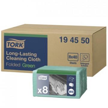 Spalvotos šluostės Tork Premium W8, žalios, 38x30cm, 40vnt
