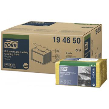 Spalvotos šluostės Tork Premium W8, geltonos, 38x30cm, 40vnt