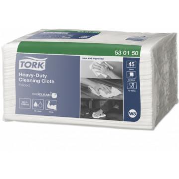 Neaustinės medž. šluostės lapeliais Tork Premium Cloth 530, W8, 1sl.