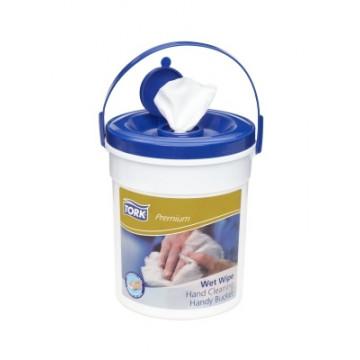 Drėgnos šluostės rankoms kibirėlyje Tork Premium W14