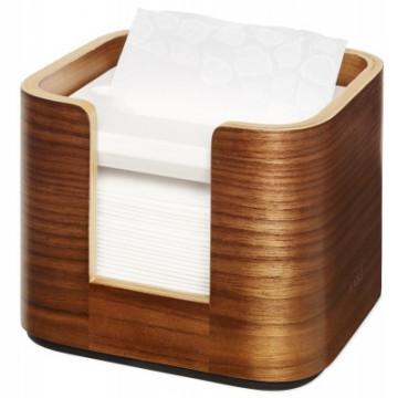 Stalo servetėlių dozatorius Tork Xpressnap Snack N10, statomas ant stalo, riešutmedžio spalvos