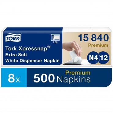 Stalo servetėlės dozatoriams Tork Premium Extra soft Xpressnap N4, 21,6x33cm, 2sl.