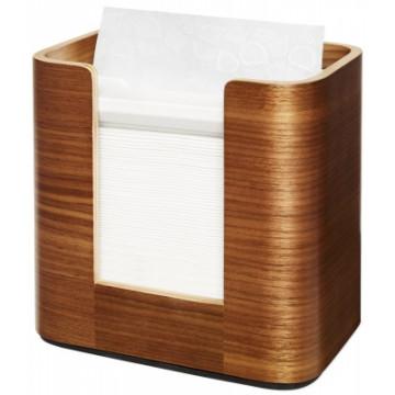 Stalo servetėlių dozatorius Tork Xpressnap Snack N4, statomas ant stalo, riešutmedžio spalvos