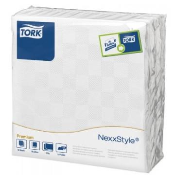 Stalo servetelės Tork Premium NexxStyle, 38x39cm, baltos, 2sl.