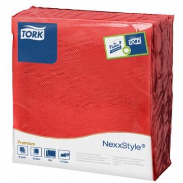 Stalo servetelės Tork Premium NexxStyle, 38x39cm, raudonos, 2sl.