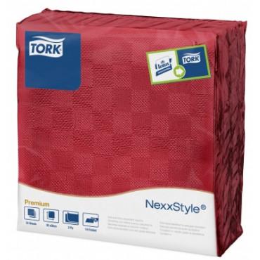 Stalo servetelės Tork Premium NexxStyle, 38x39cm, burgundiškos spalvos, 2sl.