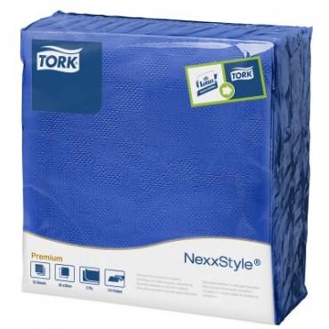Stalo servetelės Tork Premium NexxStyle, 38x39cm, tamsiai mėlynos, 2sl.