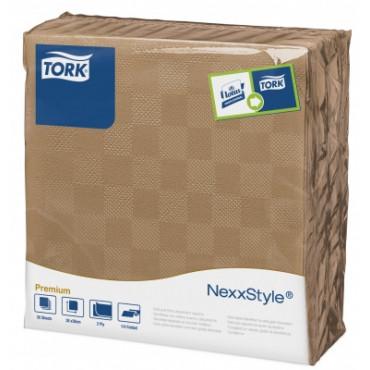 Stalo servetelės Tork Premium NexxStyle, 38x39cm, šviesiai rudos, 2sl.
