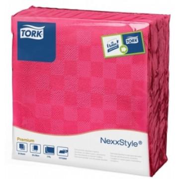Stalo servetelės Tork Premium NexxStyle, 38x39cm, fuksijų spalvos, 2sl.