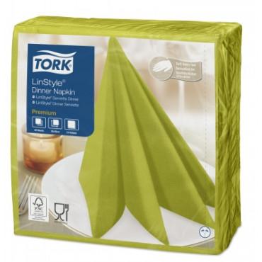 Stalo servetelės Tork Premium LinStyle, 39x39cm, pistacijų spalvos, 1sl.