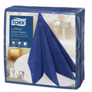 Stalo servetelės Tork Premium LinStyle, 39x39cm, tamsiai mėlynos, 1sl.