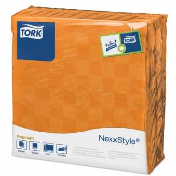 Stalo servetelės Tork Premium NexxStyle, 38x39cm, oranžinės, 2sl.
