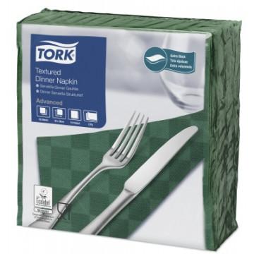 Stalo servetelės Tork Premium NexxStyle, 38x39cm, žalios, 2sl.