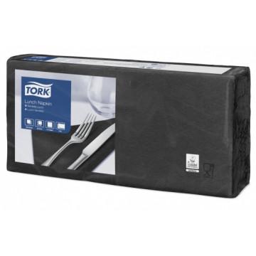 Stalo servetėlės Tork Advanced, 33x33cm, sulankstymas 1/4, juodos, 2sl.