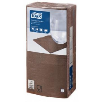 Stalo servetėlės Tork Advanced, 24x24 cm, tamsiai rudos, 2 sl.