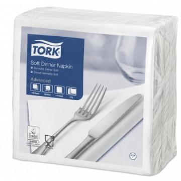 Stalo servetėlės Tork Advanced, 39x39 cm, baltos, 3sl.