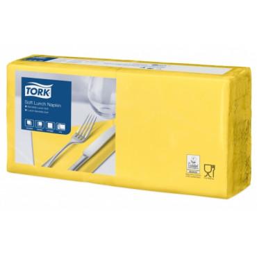 Stalo servetėlės Tork Advanced, 33x33 cm, geltonos, 3sl.