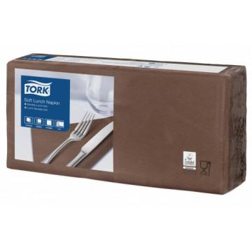 Stalo servetėlės Tork Advanced, 33x33 cm, tamsiai rudos, 3sl.