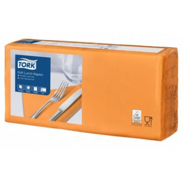 Stalo servetėlės Tork Advanced, 33x33 cm, oranžinės, 3sl.
