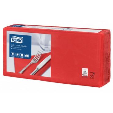 Stalo servetėlės Tork Advanced, 33x33 cm, raudonos, 3sl.