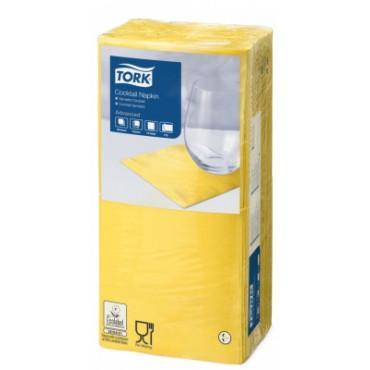 Stalo servetėlės Tork Advanced, 24x24 cm, geltonos, 2 sl.