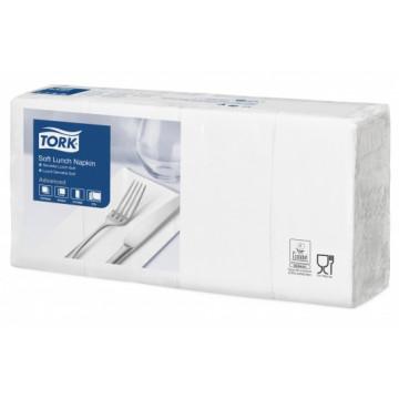 Stalo servetėlės Tork Advanced, 33x32,6 cm, baltos, 3 sl.