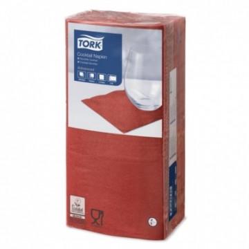 Stalo servetėlės Tork Advanced, 24x24 cm, raudonos, 2 sl.