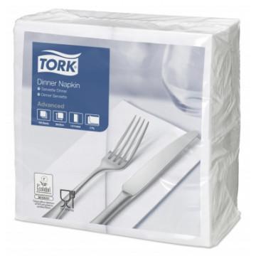 Stalo servetėlės Tork Advanced, 39x39cm, sulankstymas 1/8, baltos, 2sl.