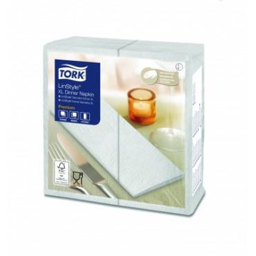 Stalo servetelės Tork Premium LinStyle, 48x48 cm, sulankstymas 1/8, baltos, 1sl.