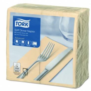 Stalo servetėlės Tork Advanced, 39x39 cm, sulankstymas 1/8, smėlio spalvos, 3 sl.