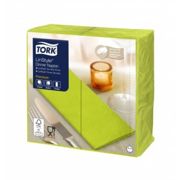 Stalo servetelės Tork Premium LinStyle, 39x39cm, sulankstymas 1/8, pistacijų spalvos, 1sl.