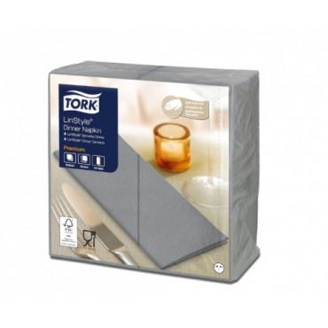 Stalo servetelės Tork Premium LinStyle, 39x39cm, sulankstymas 1/8, pilkos, 1sl.