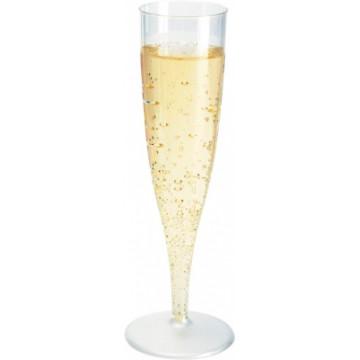 Duni Vienkartinės taurės šampanui 135 (100) ml, skaidrios spalvos, PS, max +100°C, 10 vnt.