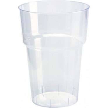 Duni Vienkartiniai bokalai gėrimams Bavaria 450 (300) ml, skaidrūs,  PS, max +100°C, 22 vnt.