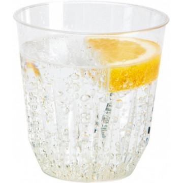 Duni Vienkartinės stiklinės sultims, Diamond 250 (200) ml, skaidrūs, PS, max +100°C, 30 vnt.