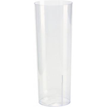 Duni Vienkartinės stiklinė kokteiliams, Long drink 200 ml, skaidrūs, PS, max +100°C, 10 vnt.