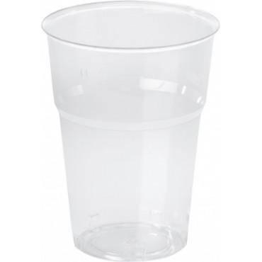 Duni Vienkartinės stiklinės  karštiems/šaltiems gėrimams, Trend 250 (200) ml, skaidrios, PS, max +100°C, 50 vnt.