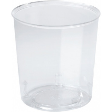 Duni Vienkartinės stiklinės karštiems/šaltiems gėrimams, Trend 300 (250) ml, (tinka 167607,insertas 157157) skaidrios, PS, max +100°C, 50 vnt.