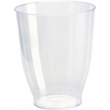 Duni Vienkartinės stiklinės sultims,  Crystallo 240 (200) ml, skaidrios, PS, max +100°C, 30 vnt.